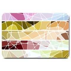 Geometric Mosaic Line Rainbow Large Doormat  by Alisyart