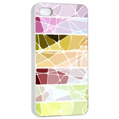 Geometric Mosaic Line Rainbow Apple Iphone 4/4s Seamless Case (white) by Alisyart
