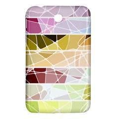 Geometric Mosaic Line Rainbow Samsung Galaxy Tab 3 (7 ) P3200 Hardshell Case  by Alisyart