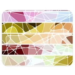 Geometric Mosaic Line Rainbow Double Sided Flano Blanket (medium)  by Alisyart