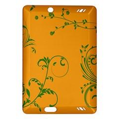 Nature Leaf Green Orange Amazon Kindle Fire Hd (2013) Hardshell Case by Alisyart