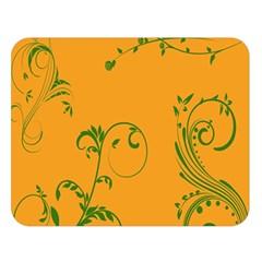 Nature Leaf Green Orange Double Sided Flano Blanket (large)  by Alisyart