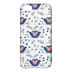Heart Love Valentine Flower Floral Purple Apple Iphone 5c Hardshell Case by Alisyart