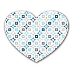 Plaid Line Chevron Wave Blue Grey Circle Heart Mousepads by Alisyart