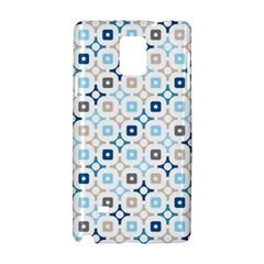 Plaid Line Chevron Wave Blue Grey Circle Samsung Galaxy Note 4 Hardshell Case by Alisyart