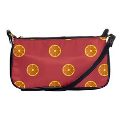 Oranges Lime Fruit Red Circle Shoulder Clutch Bags by Alisyart