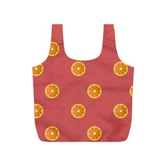 Oranges Lime Fruit Red Circle Full Print Recycle Bags (s)  by Alisyart