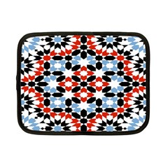 Oriental Star Plaid Triangle Red Black Blue White Netbook Case (small)  by Alisyart