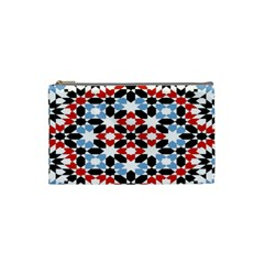 Oriental Star Plaid Triangle Red Black Blue White Cosmetic Bag (small)  by Alisyart