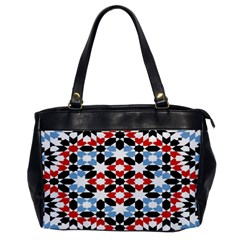 Oriental Star Plaid Triangle Red Black Blue White Office Handbags by Alisyart