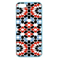 Oriental Star Plaid Triangle Red Black Blue White Apple Seamless Iphone 5 Case (color) by Alisyart