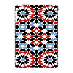 Oriental Star Plaid Triangle Red Black Blue White Apple Ipad Mini Hardshell Case (compatible With Smart Cover) by Alisyart