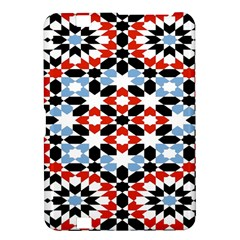 Oriental Star Plaid Triangle Red Black Blue White Kindle Fire Hd 8 9  by Alisyart