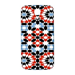 Oriental Star Plaid Triangle Red Black Blue White Samsung Galaxy S4 I9500/i9505  Hardshell Back Case by Alisyart