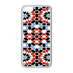 Oriental Star Plaid Triangle Red Black Blue White Apple Iphone 5c Seamless Case (white) by Alisyart