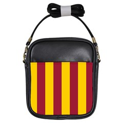 Red Yellow Flag Girls Sling Bags by Alisyart