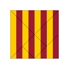 Red Yellow Flag Acrylic Tangram Puzzle (4  X 4 ) by Alisyart