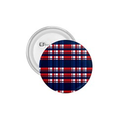 Plaid Red White Blue 1 75  Buttons by Alisyart