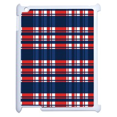 Plaid Red White Blue Apple Ipad 2 Case (white) by Alisyart