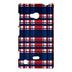 Plaid Red White Blue Nokia Lumia 720 by Alisyart