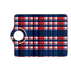 Plaid Red White Blue Kindle Fire Hd (2013) Flip 360 Case by Alisyart