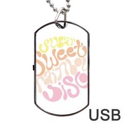 Sugar Sweet Rainbow Dog Tag Usb Flash (two Sides) by Alisyart