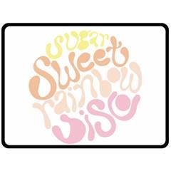 Sugar Sweet Rainbow Double Sided Fleece Blanket (large)  by Alisyart