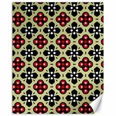 Seamless Floral Flower Star Red Black Grey Canvas 16  X 20   by Alisyart
