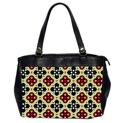 Seamless Floral Flower Star Red Black Grey Office Handbags (2 Sides)  by Alisyart