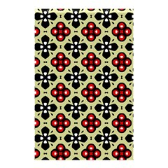 Seamless Floral Flower Star Red Black Grey Shower Curtain 48  X 72  (small)  by Alisyart