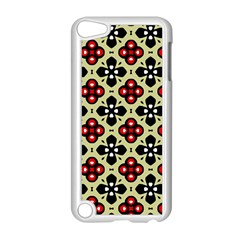 Seamless Floral Flower Star Red Black Grey Apple Ipod Touch 5 Case (white) by Alisyart
