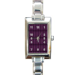 Plaid Purple Rectangle Italian Charm Watch by Alisyart