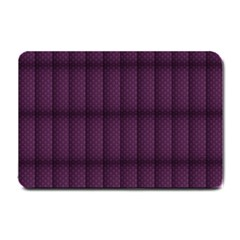 Plaid Purple Small Doormat  by Alisyart