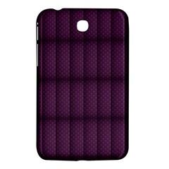 Plaid Purple Samsung Galaxy Tab 3 (7 ) P3200 Hardshell Case  by Alisyart