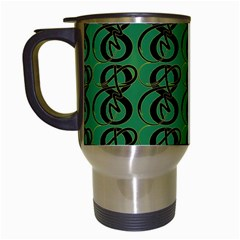 Abstract Pattern Graphic Lines Travel Mugs (white) by Amaryn4rt