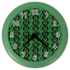 Abstract Pattern Graphic Lines Color Wall Clocks by Amaryn4rt