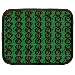 Abstract Pattern Graphic Lines Netbook Case (xl)  by Amaryn4rt