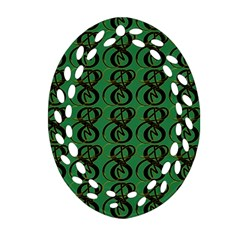 Abstract Pattern Graphic Lines Oval Filigree Ornament (two Sides) by Amaryn4rt