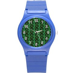 Abstract Pattern Graphic Lines Round Plastic Sport Watch (s) by Amaryn4rt