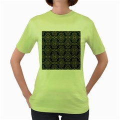 Line Geometry Pattern Geometric Women s Green T Shirt