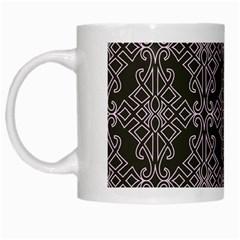 Line Geometry Pattern Geometric White Mugs by Amaryn4rt