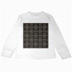 Line Geometry Pattern Geometric Kids Long Sleeve T Shirts by Amaryn4rt