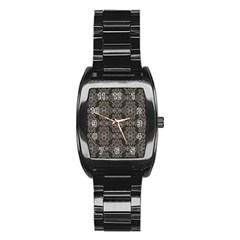 Line Geometry Pattern Geometric Stainless Steel Barrel Watch by Amaryn4rt