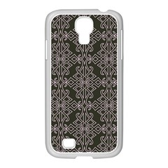 Line Geometry Pattern Geometric Samsung Galaxy S4 I9500/ I9505 Case (white) by Amaryn4rt