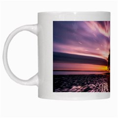 Landscape Reflection Waves Ripples White Mugs by Amaryn4rt
