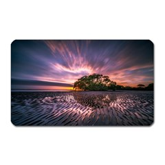 Landscape Reflection Waves Ripples Magnet (rectangular) by Amaryn4rt