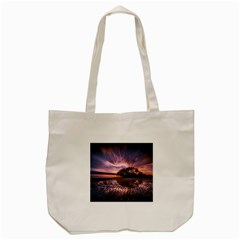 Landscape Reflection Waves Ripples Tote Bag (cream) by Amaryn4rt