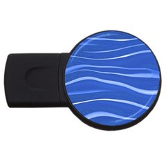 Lines Swinging Texture  Blue Background Usb Flash Drive Round (2 Gb) by Amaryn4rt