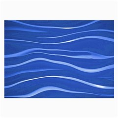 Lines Swinging Texture  Blue Background Large Glasses Cloth (2 Side) by Amaryn4rt