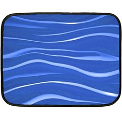 Lines Swinging Texture  Blue Background Double Sided Fleece Blanket (mini)  by Amaryn4rt